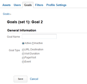 Google Analytics goal tracking