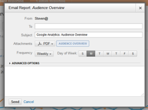 Google Analytics schedule reports