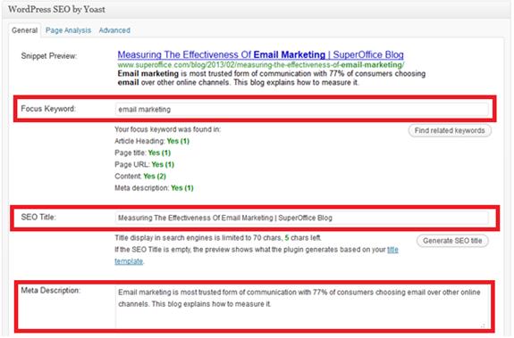 SEO Guidelines WordPress SEO 1